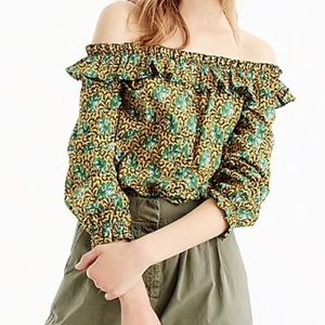 NWT J. Crew off the shoulder Ratti elephant top 4